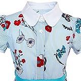 Sunny Fashion KK84 Girls Dress School Blue Strip