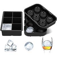 Bandeja de silicona reutilizable para cubitos de hielo, esfera redonda y molde grande cuadrado para enfriar whisky de bourbon, bebidas