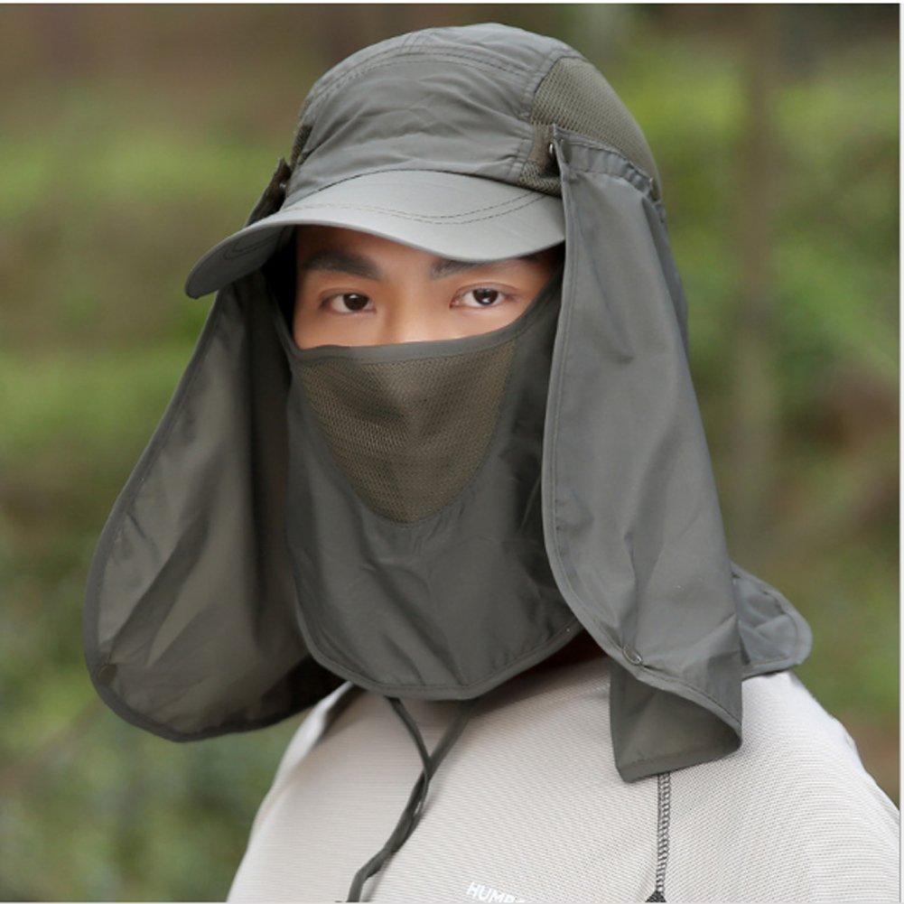Honor Jojoba Sonnenhut Nackenschutz Fischerhut Sommer Hut Cap Muetze mit UV Schutz mit Maske Mund und Nacken Schutz f/ür Trekking Herren und Frauen