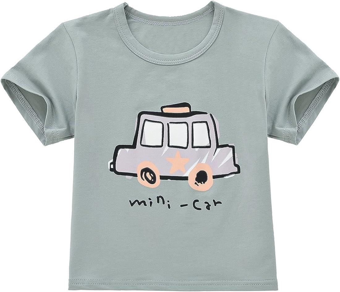 ChicNChic Baby Girls Boys Cotton Mini Car T-Shirt Shorts Cartoon Printed 2pcs Clothes Set