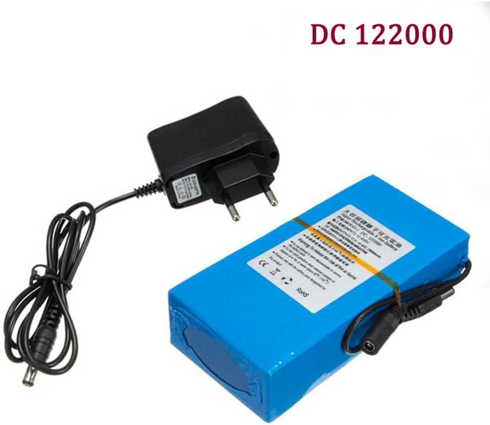 Eleoption 122000 - Batería de alta calidad, CC, 12V, potente: 20000mAh, iones de litio, recargable, para cámara de vigilancia con transmisor inalámbrico