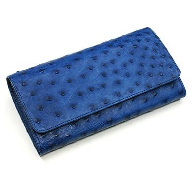 36e3d792fe92 Amazon | AIZOME-OST1080 オーストリッチレザー長財布:万能タイプ:藍染 ...