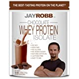 Jay Robb Whey Chocolate Isolate Protein Powder, Low Carb, Keto, Vegetarian, Gluten Free, Lactose Free, No Sugar Added, No Fat, No Soy, Nothing Artificial, Non-GMO, Best-Tasting (12 oz)