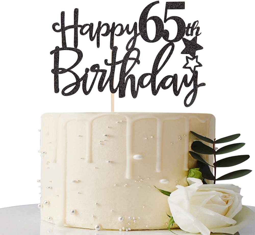 65th birthday cake topper Happy 60th 65 cake topper Cheers to 65 years Cake Topper sixty five cake topper 65th anniversary cake topper