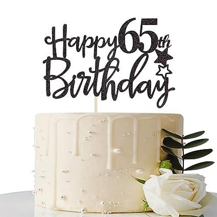 Amazon.com: Decoración para tarta de 65 cumpleaños, color ...