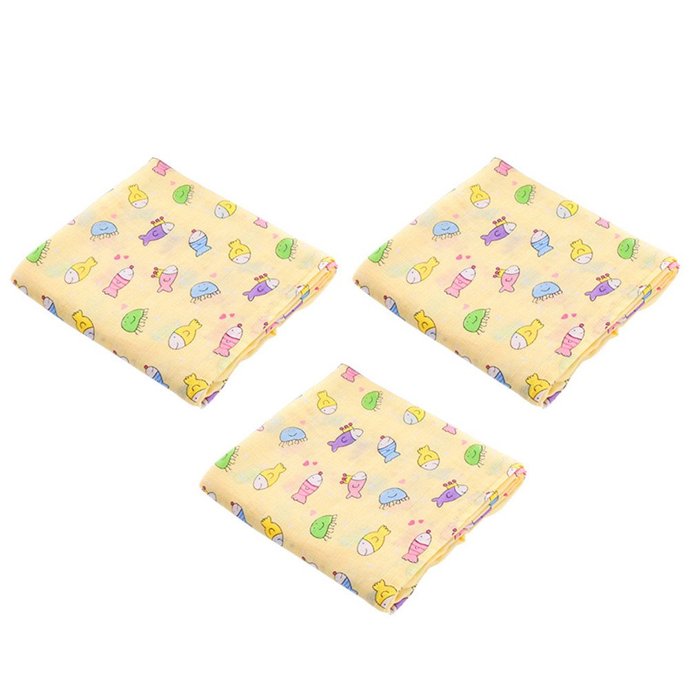 3Pcs Bamboo Cotton Blanket Baby Swaddle Wraps Cotton Baby Muslin Blankets Group G