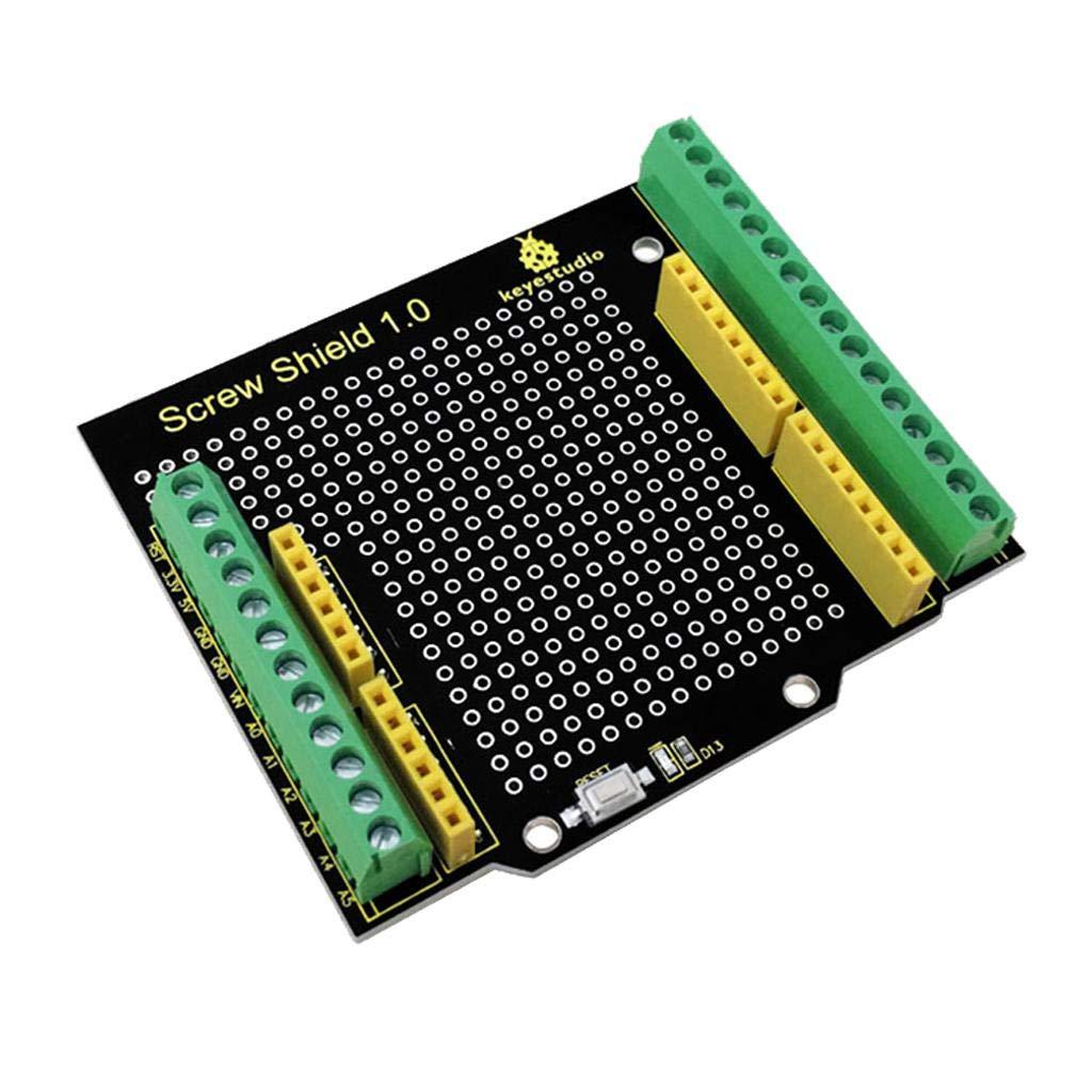 perfk Keyestudio Screw Shield Bindingpost Prototype Expansion Board For Arduino