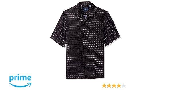 9de18e87 Nat Nast Men's Diamond Print Short Sleeve Shirt, Black S at Amazon Men's  Clothing store: