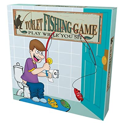 Island Dogs Toilet Fishing Novelty Game Set, 10 pieces: Toys & Games
