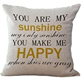 Wisdom Words Printed Cushion Cover LivebyCare Linen Cotton Cover Throw Pillow Case Sham Pattern Zipper Pillowslip Pillowcase For Decor Decorative Drawing Living Room