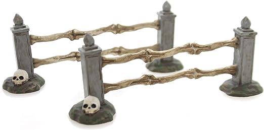 Department 56 Halloween Village Boneyard Straight Fence Accessory 1.85 inch 4054261