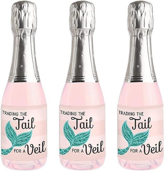 Trading The Tail For A Veil - Pegatinas para botella de vino y ...