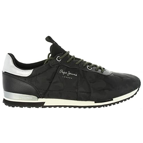 Pepe Jeans Men s Tinker Racer Nylon Trainers Black  Amazon.co.uk ... 44ac2fb67d