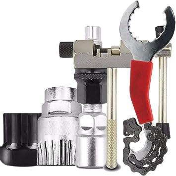 Vaycally Kit de herramientas de reparación de bicicletas, 16 en 1 multifunción mecánico de bicicleta solución herramientas portátiles Set Bolsa con herramienta de cadena y parche de neumáticos Mounta: Amazon.es: Bricolaje y