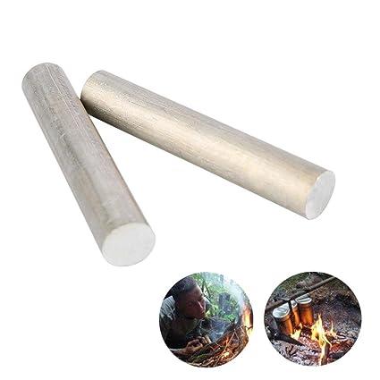 Leegoal Varilla metálica de magnesio para Iniciación de Incendios, 100% inflamable, Varillas de