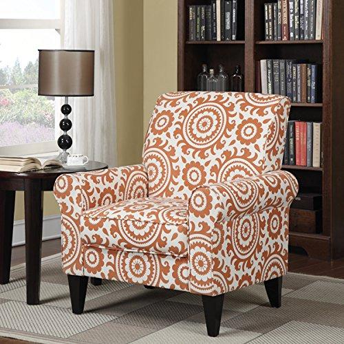 (Portfolio Dana Orange Medallion Arm Chair)