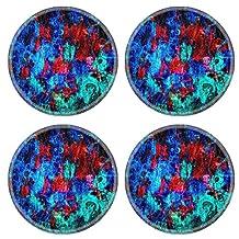 Liili Round Coasters vintage leather texture background 29481125