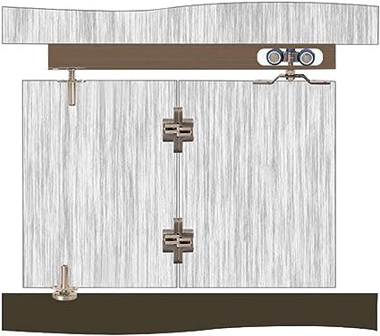 Rueda Simple Puerta Plegable Rueda de suspensión Puerta corredera Rueda de suspensión Guía de Silencio Rueda Universal, rodamiento de Puerta Simple 40 kg: Amazon.es: Hogar