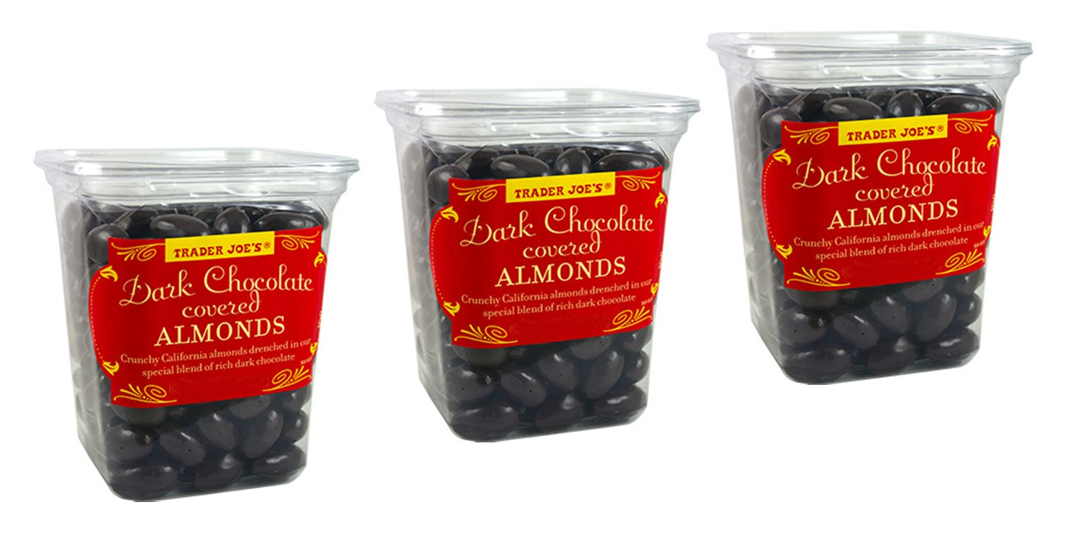 Amazon.com : Trader Joe's Dark Chocolate Almonds Crunchy ...