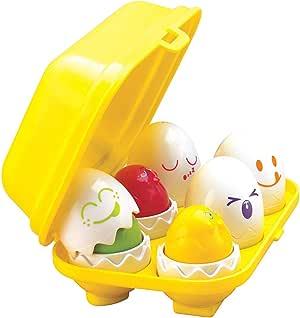 TOMY E1581 Hide & Squeak Eggs, Yellow red Green Blue Orange Purple