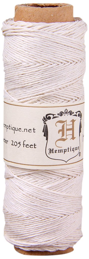 Hemptique Hemp Cord Spool 10# 205 Feet/Pkg-White 159716