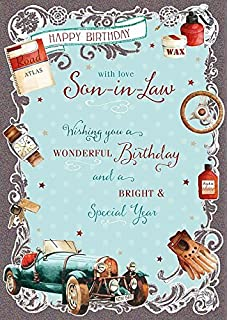 Son in law birthday card happy birthday watch gift boxes stars wishing well studios greetings card son in law birthday m4hsunfo