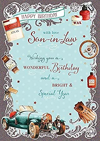 Wishing well studios greetings card son in law birthday amazon wishing well studios greetings card son in law birthday m4hsunfo