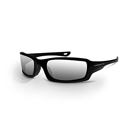 3472eaf96b Crossfire Eyewear 2063 M6A Safety Glasses with Black Frame and Silver  Mirror Lens - - Amazon.com