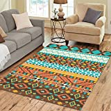 Cheap InterestPrint Tribal Chevron Aztec Area Rug 7 x 5 Feet, Colorful Ethnic Aztec Modern Carpet Floor Rugs Mat for Children Kids Home Living Dining Room Decoration