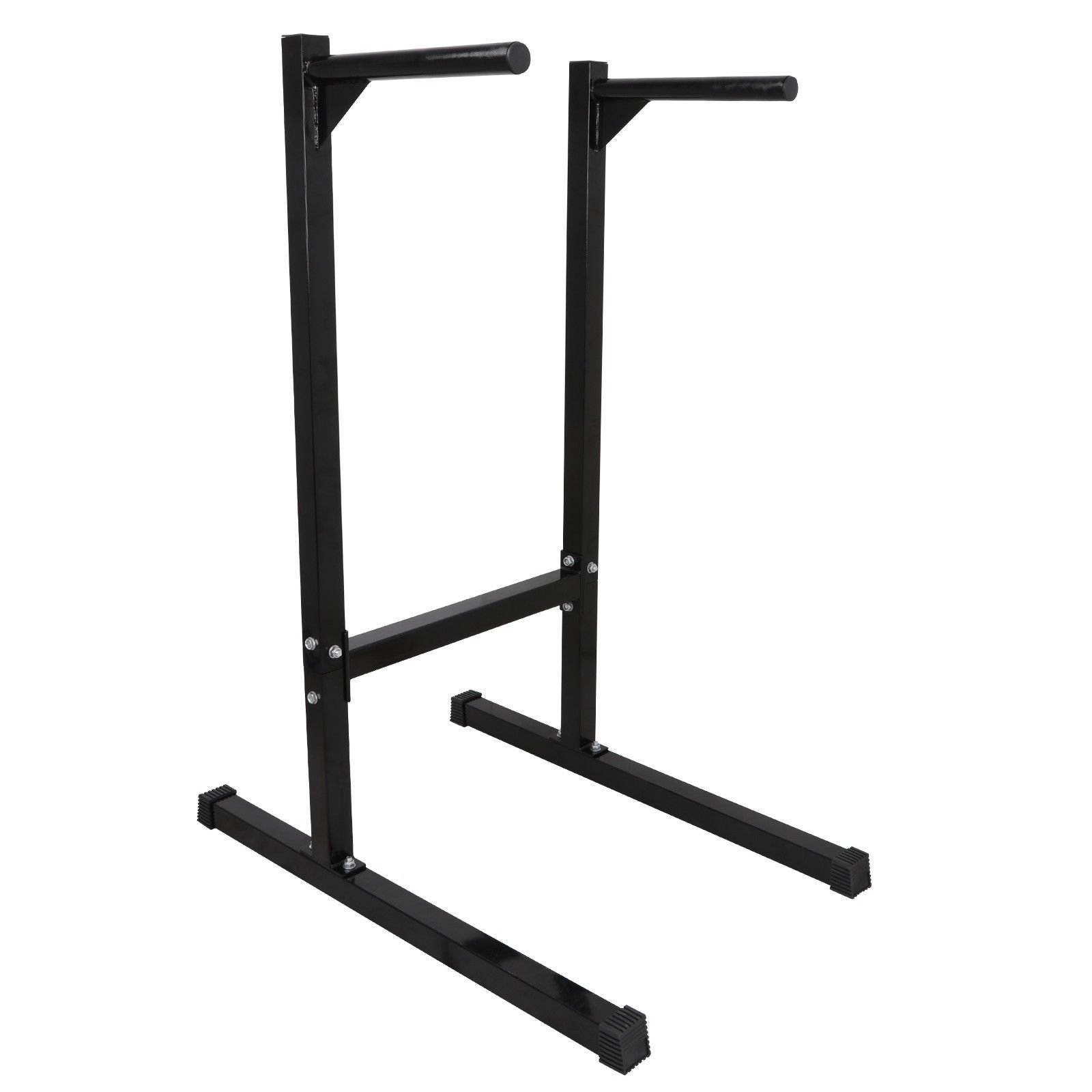 Black Steel Dipping Station Pull Up Stand Compact Dip Bar Capacity 440 Lbs