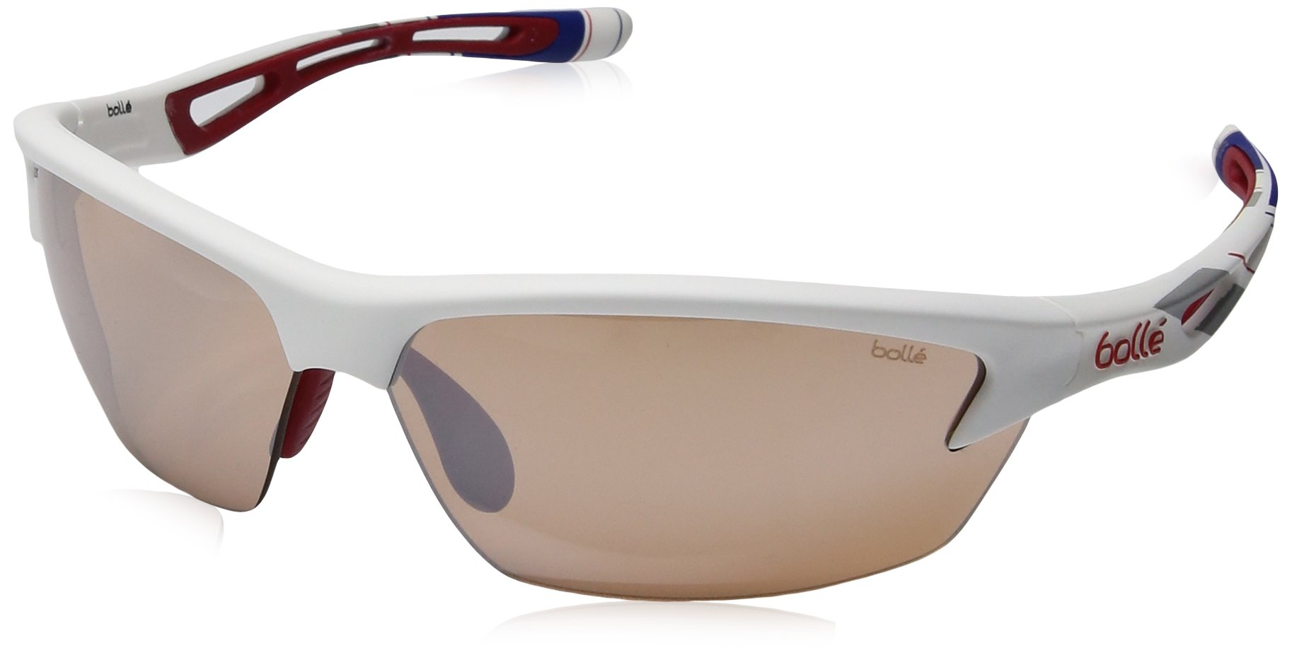 Bolle Bolt Sunglasses, Red/White/Blue Modulator V3 Golf Oleo AF by Bolle
