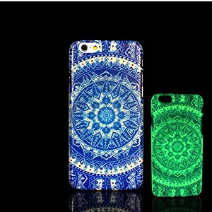 iPhone 7 Case, Glow in the Dark Aztec Mandala Pattern TomCase Fluorescent Back Cover for iPhone 7 Case 4.7 inch, P12