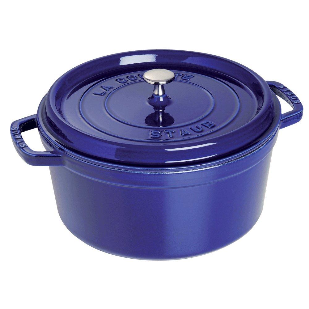 Staub 1103091 Round Cocotte Oven, 9 quart, Dark Blue by Staub (Image #1)