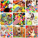 Lunaoo Multicoloured Ball Pit Balls Pack of 100 BPA Free Phthalate Free Crush Proof Plastic Play Balls In Zippered Storage Bag Great for Tent Playhouse Kiddie Pool Playpen and Bounce House