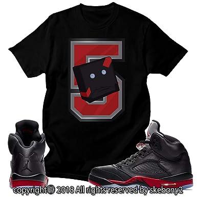 cheap for discount 157f3 494a2 Custom T Shirt Matching Style of Air Jordan 5 Retro Satin ...
