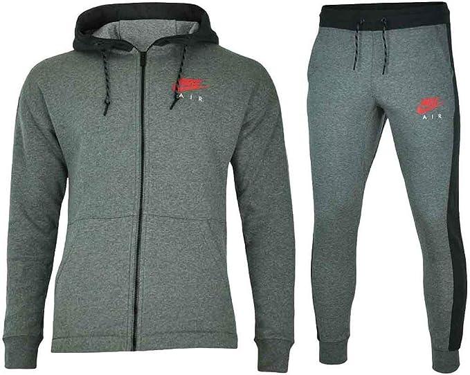 Nike - Nike Tuta Uomo Cotone Felpato Grigia - S, Gris: Amazon.es ...