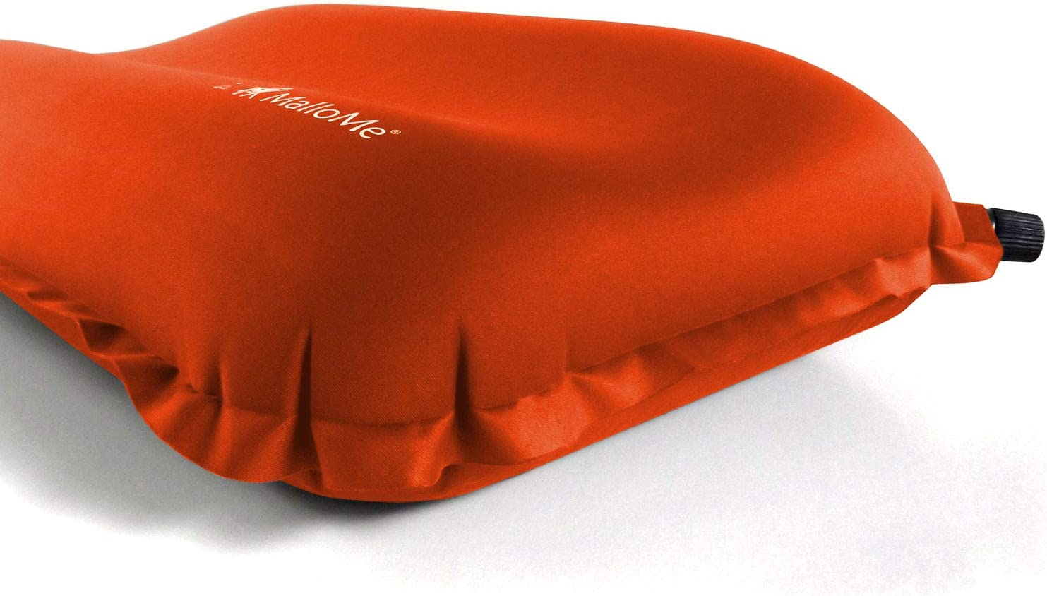 Backpacking Camp Pillows for Sleeping Bag Pad MalloMe Inflatable Camping Travel Pillow Small Mini Air Size Ultralight Inflating Compressible Compact Portable Gear Accessories Hiking Orange
