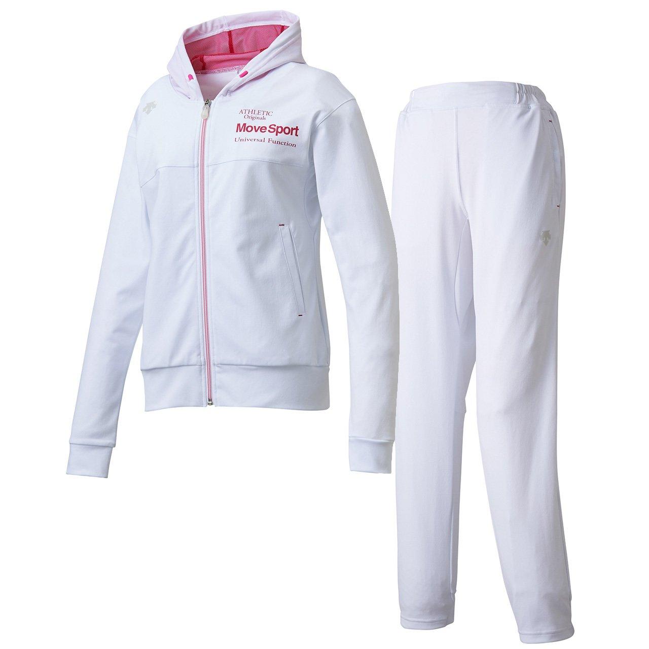 デサント(DESCENTE) レディース サンスクリーン トレーニングジャケット&パンツ上下セット(ホワイト/ホワイト) DMWLJF10-WHT-DMWLJG10-WHT B079NYGF48 日本 S-(日本サイズS相当)|ホワイト/ホワイト ホワイト/ホワイト 日本 S-(日本サイズS相当)