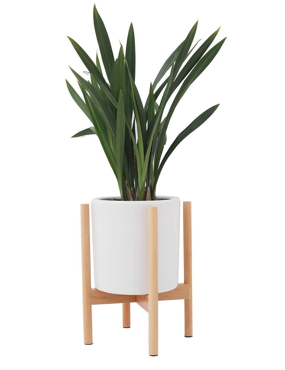 LouisaYork Legno fioriera Holder Display Rack, Legno Flower Stand,Supporto per Piante in Legno, per Interni/Esterni, Supporti per Vaso di Fiori