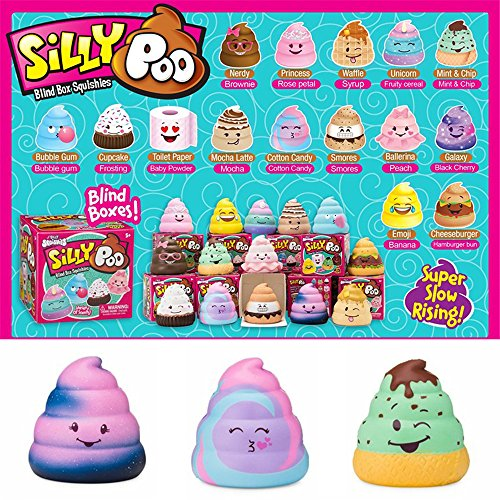 Silly Poo Squishy Blind Box 76.56.5CM Licensed Slow Rising With Packaging Collection Gift Toy