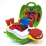 Brigamo 559 - Spielzeug Grill BBQ Set to go im Koffer Spielzeugset