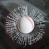 YGMONER 3D Simulation Golf/Baseball Break Glass Car Window Sticker (Baseball)