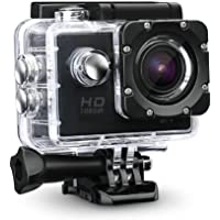 Teconica YX-5500 Action Camera Pro 12 Megapixel Ultra HD Video Recording Water Proof Action Camera with 170˚ Ultra Wide-Angle Lens - Black