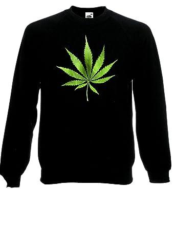 Iconic Classic Weed Leaf Symbol Cannabis Logo Pullover Fleece Jumper