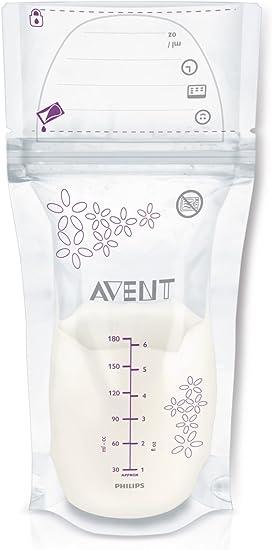 Oferta amazon: Philips Avent SCF603/25 - Pack de 25 bolsas para almacenaje de leche materna, 180 ml, color blanco