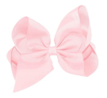 Light Pink Satin Boutique Hair Bow