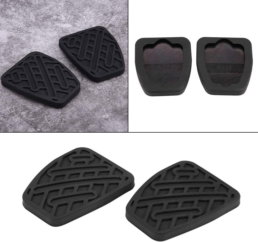 Enrilior 1 Pair of Auto Brake Clutch Pedal Pad Rubber Cover for N-I-S-S-A-N Qashqai 2007-2016 46531JD00A