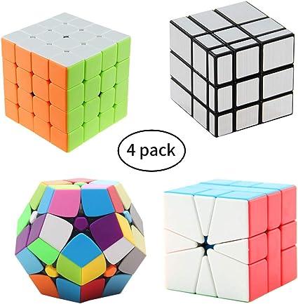 QiYi 8 in 1 Bundle Magic Cube 2x2x2 3x3 4x4 Dodecahedron Skew Pyramid Gift BOX