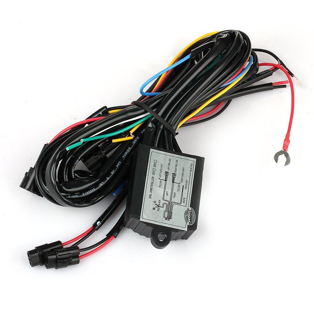CARCHET® Contrôleur Automatique Relais Harnais ON OFF Variateur pour LED Feux Diurne DRL Ebuyfrmart