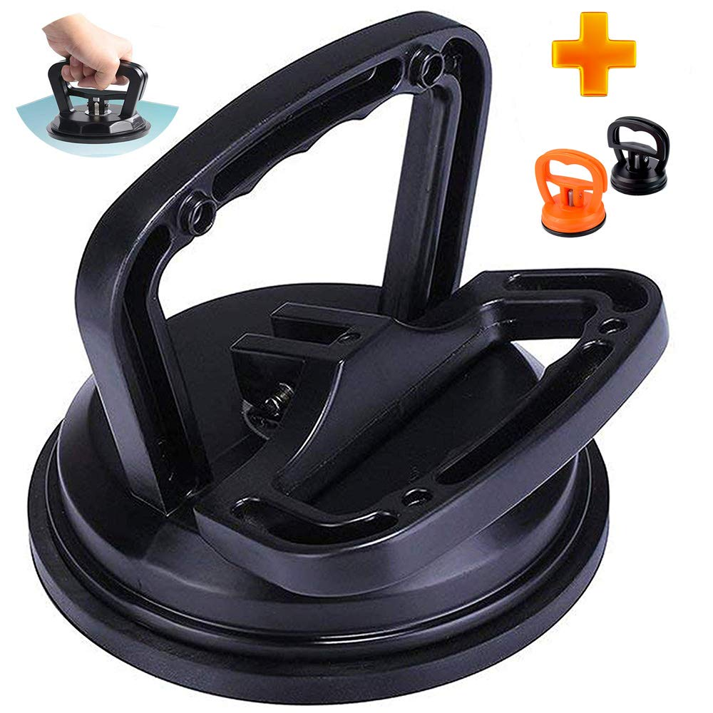ArtJ4U Black Aluminum Suction Cup Dent Puller,Car Dent Puller Heavy Duty Glass Lifting and Objects Moving Handle Lifter Dent Remover for Car Dent Repair